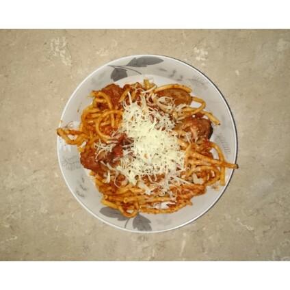 Easy Spicy Spaghetti Meatballs