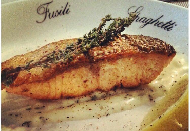 Crispy Skin Salmon with Lemon Thyme Sauce