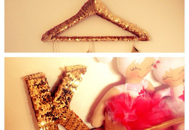 Sequin Hanger & Sequin Letter