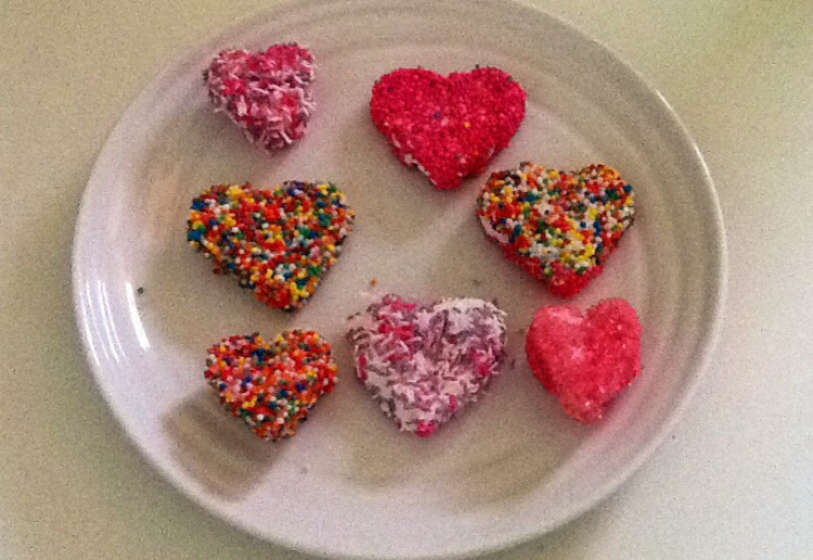 Homemade Marshmallow Hearts