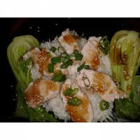 Hot & Sour Chicken with Coconut Rice and Pak Choi