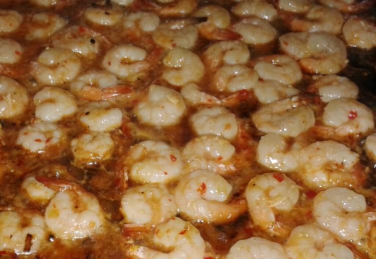 BBQ Prawns with honey, soy and garlic