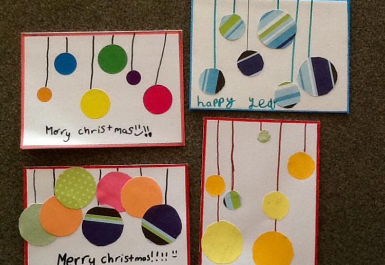 Bobble Christmas card