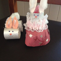Easter Bunny toilet paper roll bunnies
