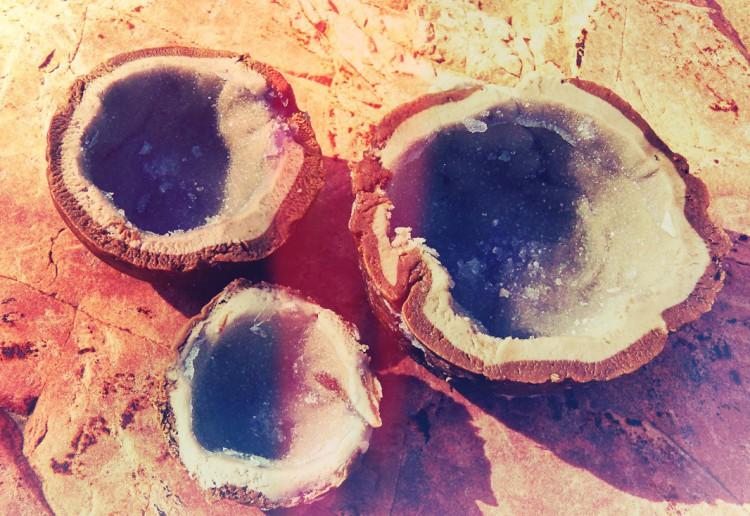 Sugar free edible amethyst sweets
