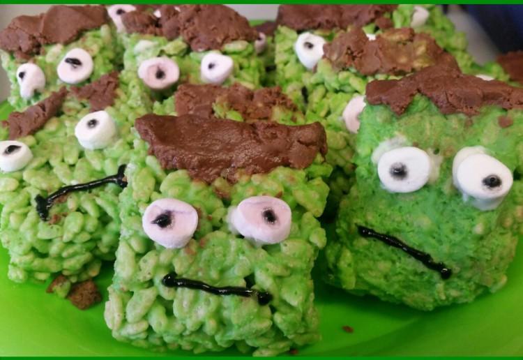 Rice crispie monsters