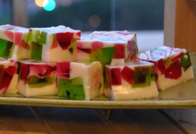 Christmas 'broken glass' jelly dessert