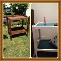 Upcycled trolley table