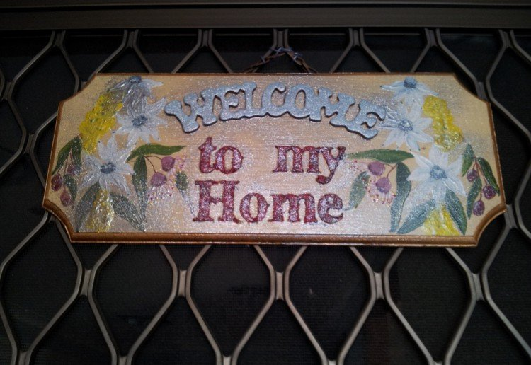 Welcome to my Home Plaque.