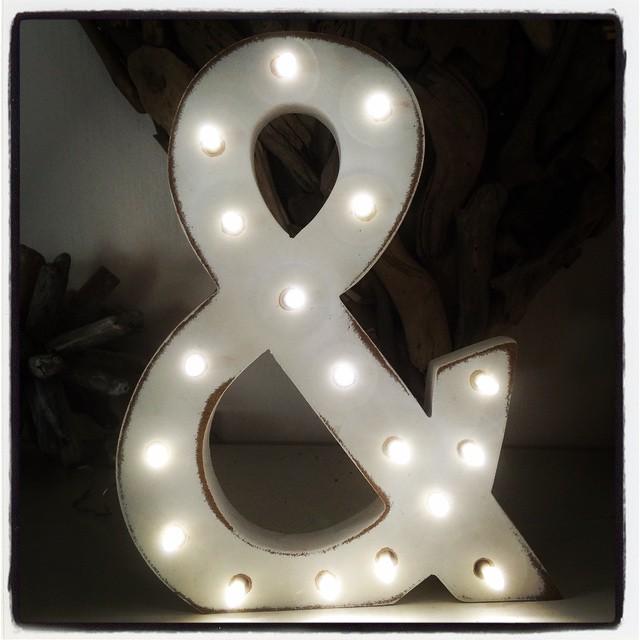 DIY light letter or symbol