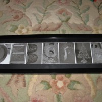 Photograph name frames