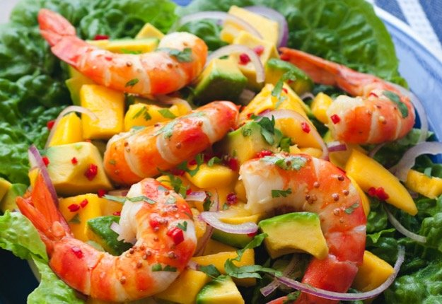 Prawns With Mango And Avocado Salad Real Recipes From Mums