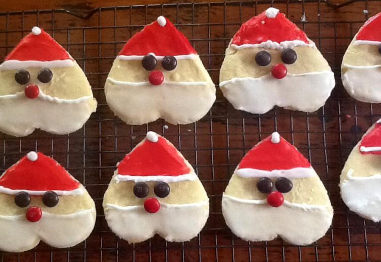 Vanilla Santa hearts