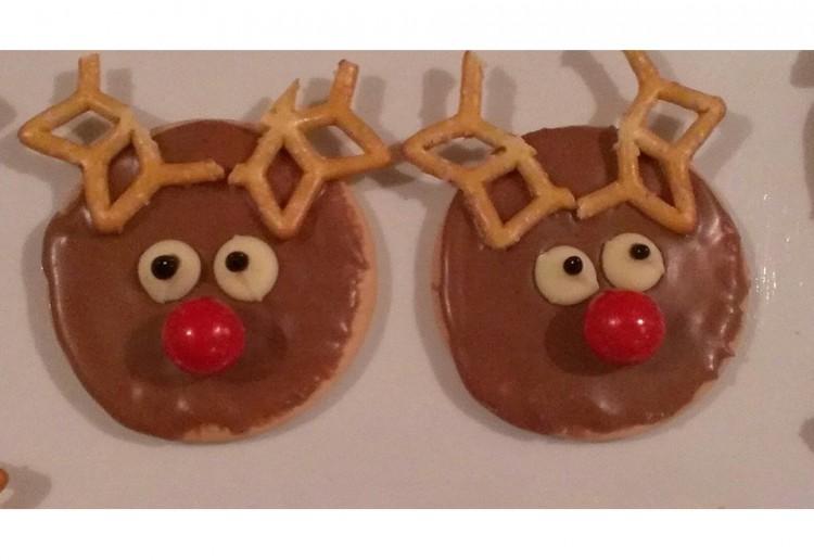 No Bake Rudolph Biscuits