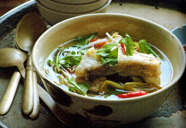 Asian Celery Broth With Barramundi