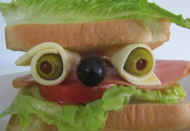 Silly sandwich face