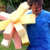 Sponge bomb wrecking ball - summer fun DIY dad project