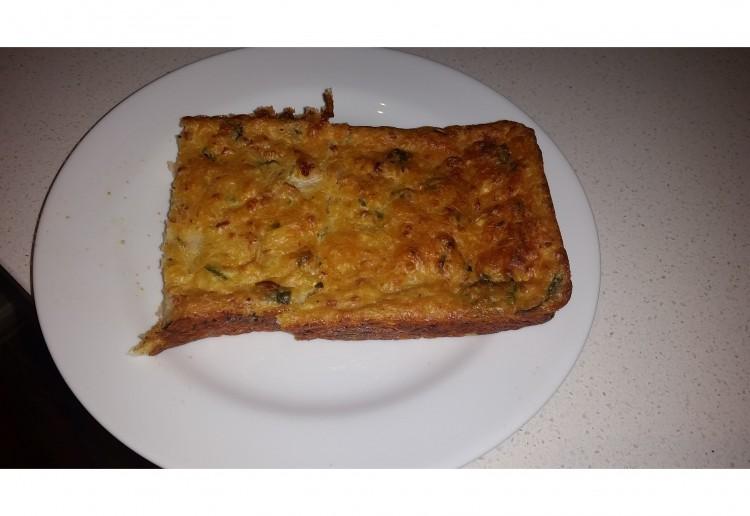 Egg free zucchini slice