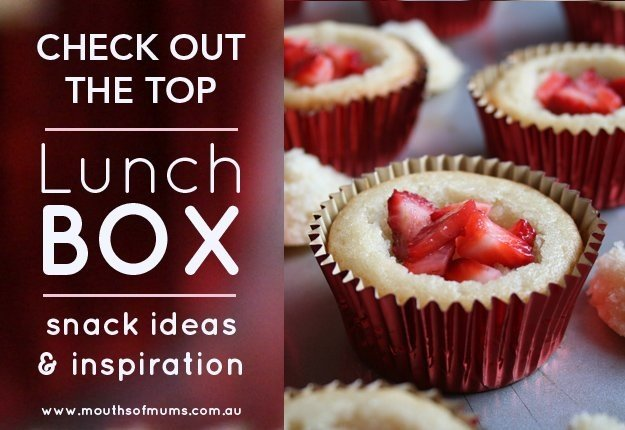 strawberry cupcakes perfect for school lunchboxes