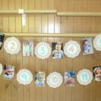 Watch me grow 1st birthday photo decoration!