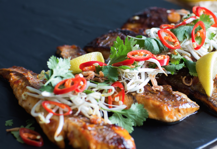 Asian snapper with sweet chilli and lemongrass