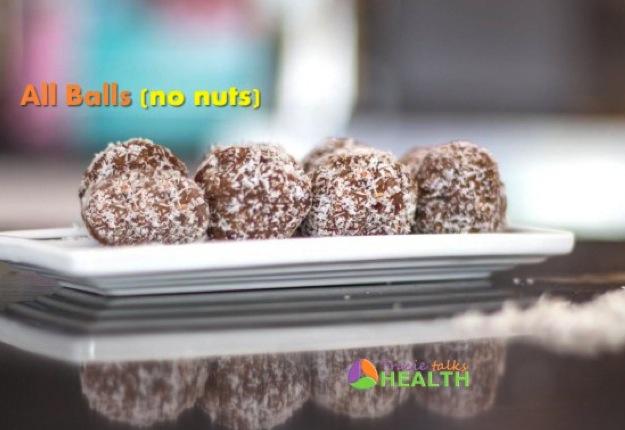 Choc balls 'all balls' nut free, sugar free