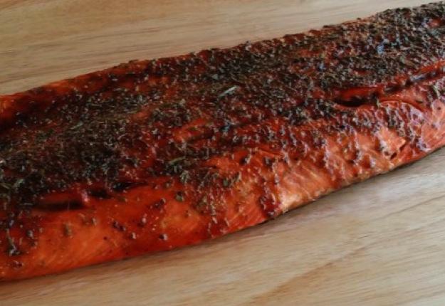 Honey rosemary salmon