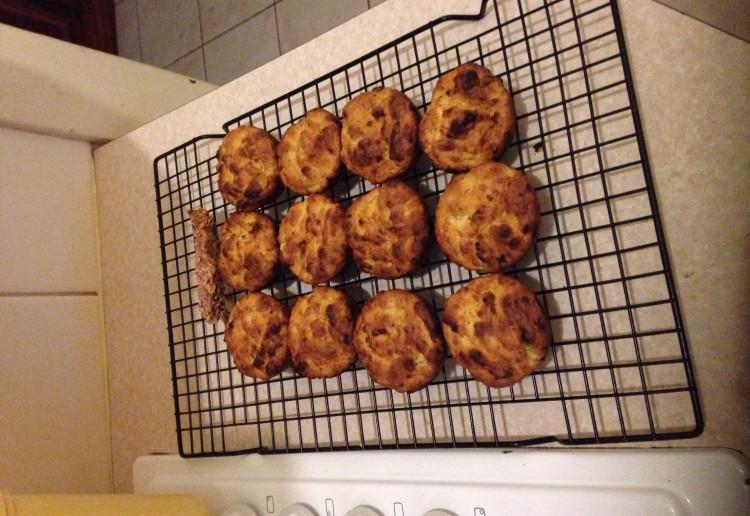 2 Ingredient banana muffins