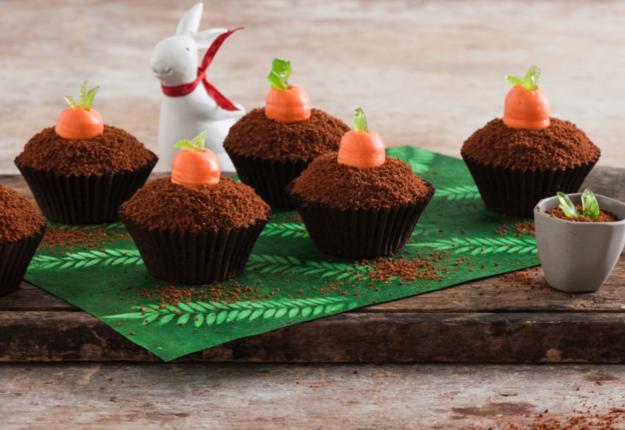 Chocolate Carrot Ground Cupcakes
