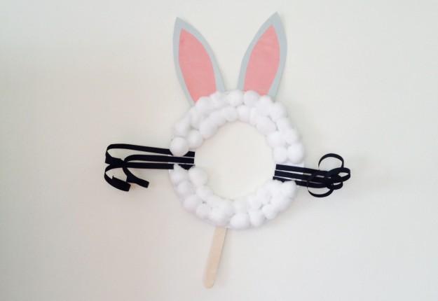 Fluffy Easter bunny mask