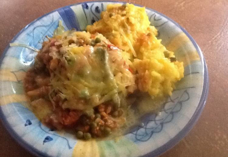 Salsa chicken with rice