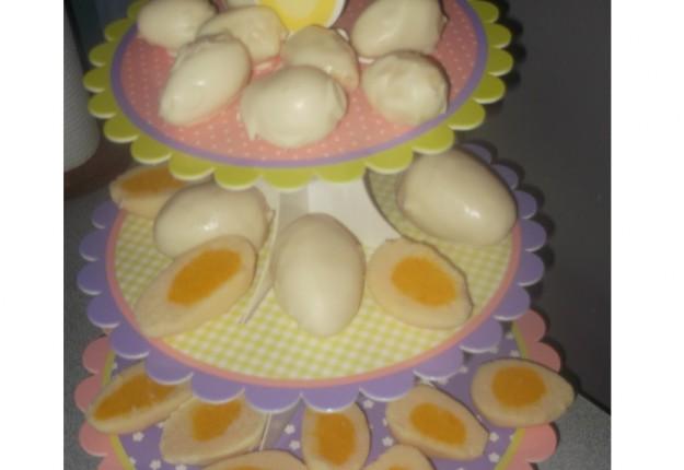 Coconut ice eggs