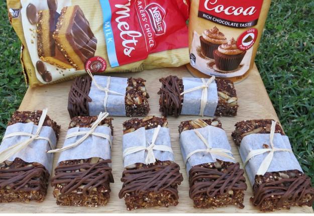 Healthy Energy Bars with Nestle Chocolate
