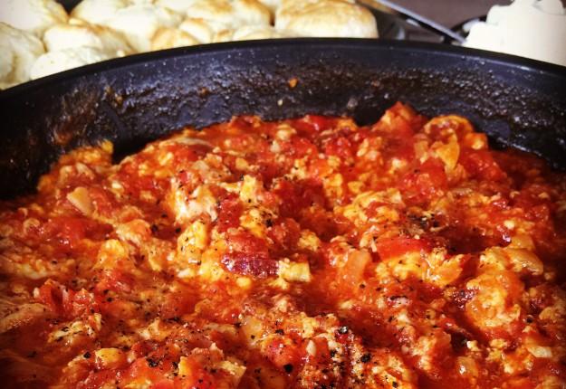 Menemen (traditional Turkish tomato and egg recipe)