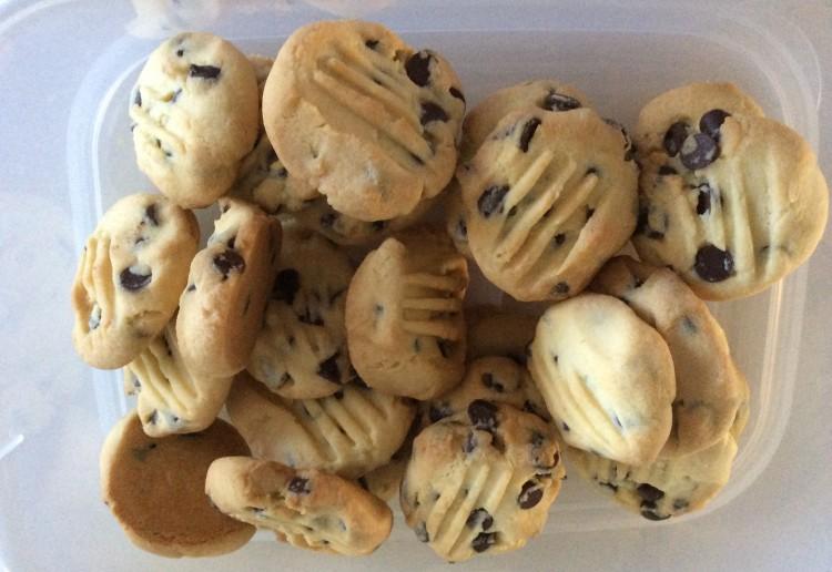 Choc chip shortbread biscuits