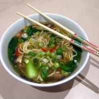 Snapper Soup with Vegetables & Udon Noodles