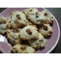 Choc chip/walnut shortbread