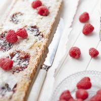 Frangipane and raspberry tart