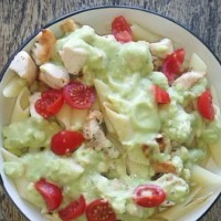 Chicken with an avocado sauce