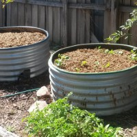 Raised tank garden bed