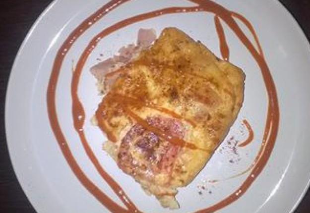 Bacon and egg bake