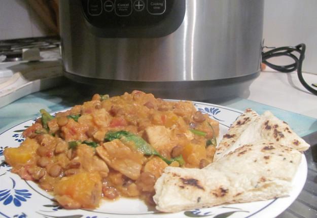 Chicken, lentil and pumpkin curry