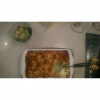Brocolli and cauliflower cheese bake