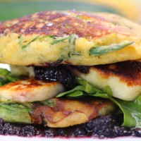 Corn and zucchini fritters by Miguel Maestre