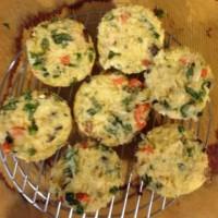 Chicken, veggie and rice muffins