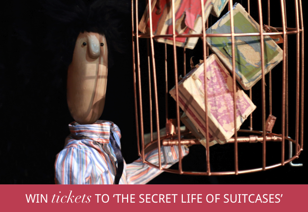 WIN tickets to The Secret Life of Suitcases at Monkey Baa!
