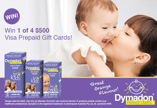 WIN 1 of 4 $500 vouchers with the Dymadon® Smile competition