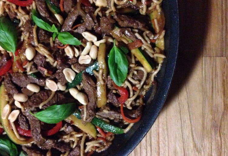 Beef Basil and Chilli Stir Fry