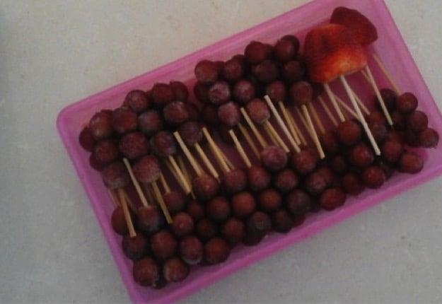 Healthy summer fruitsicles