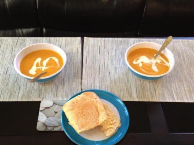 Pumpkin and veggie soup